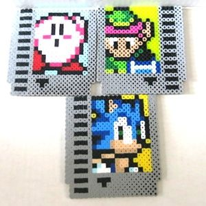 Perler Beads set of 3 NES Game Coaster or Magnet
